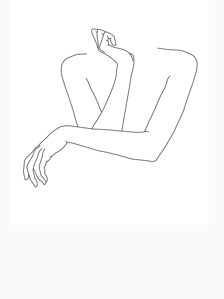 Folded arms line drawing - Anna by TheColourStudy