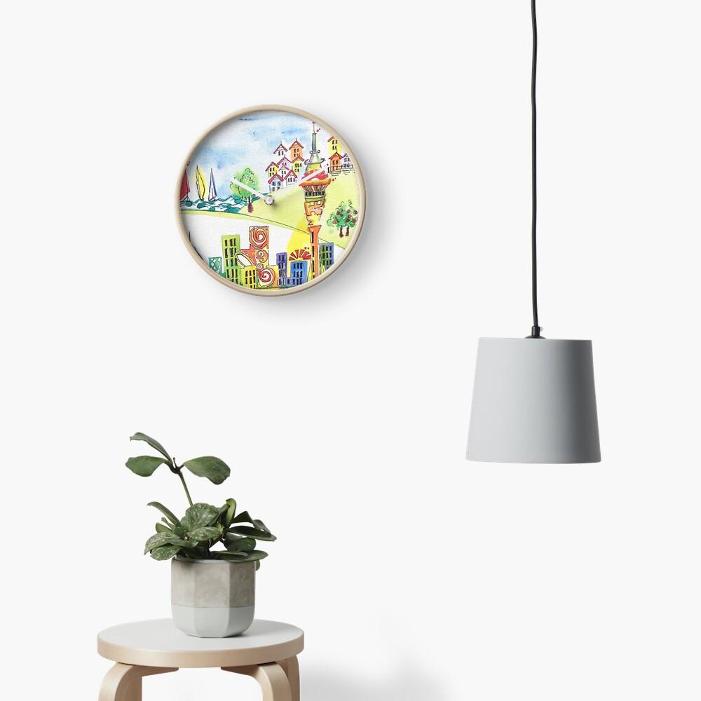 Auckland cityscape Clock