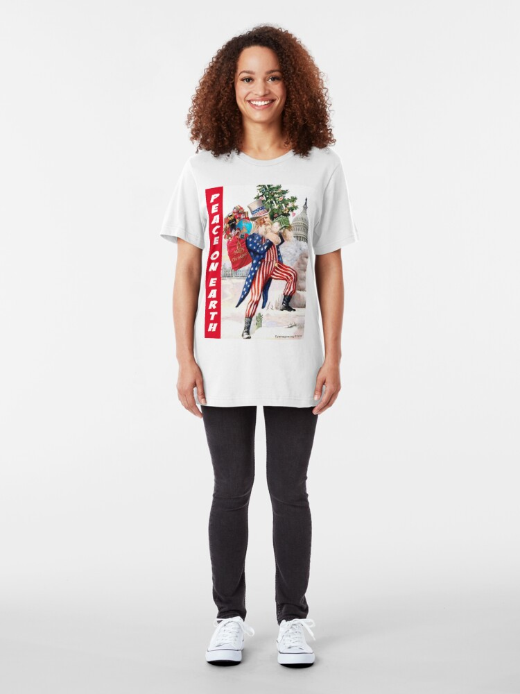 Alternate view of Peace On Earth Slim Fit T-Shirt