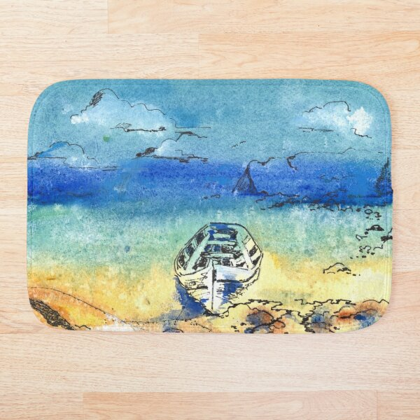 Beached boat Bath Mat