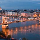 The Danube flowing through Budapest by Cliff Williams
