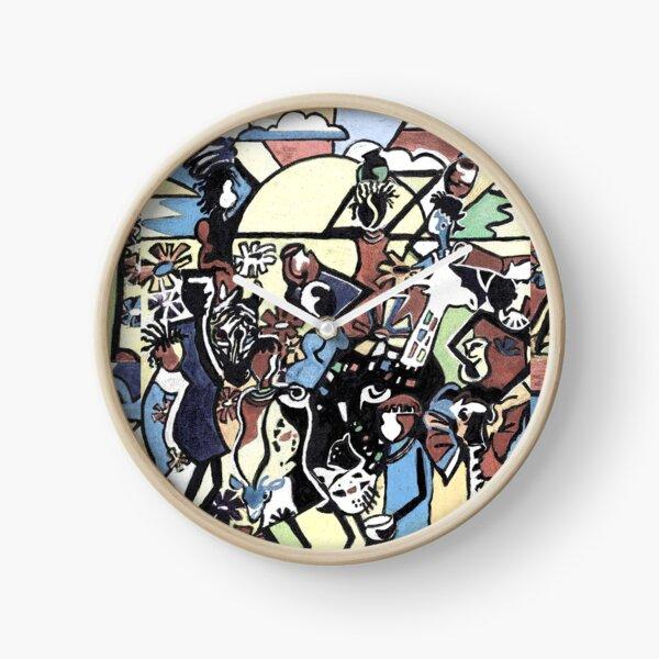 African stick people Clock