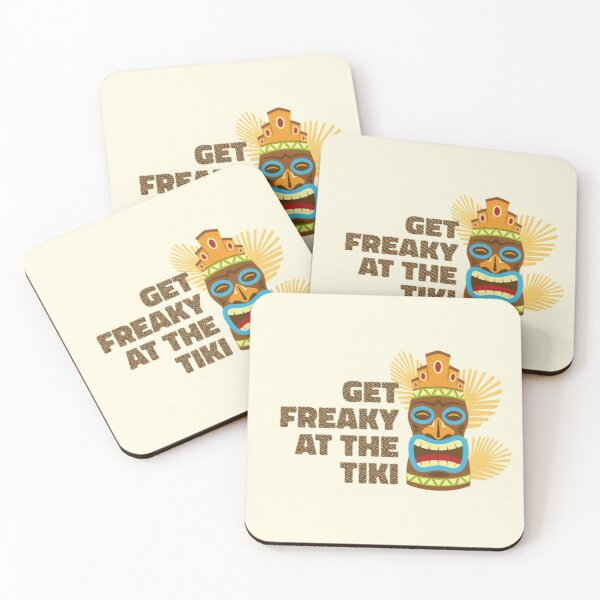 Get Freaky At The Tiki Coasters (Set of 4)