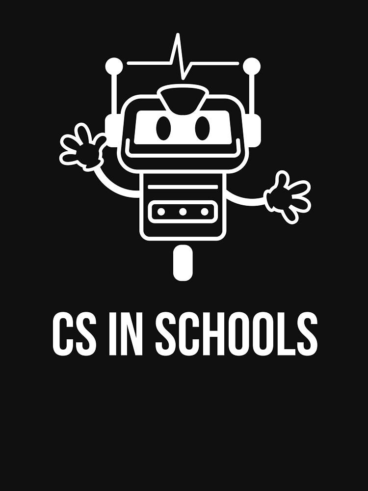 CS in Schools Robot (White) by kroid