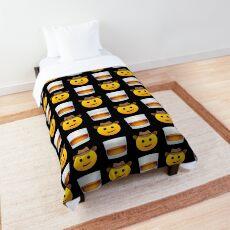 Cowboy Whiskey Emoji JoyPixels Funny Texas Boy with Whisky Comforter