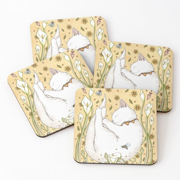 Butterflies and Bees Coasters (Set of 4)