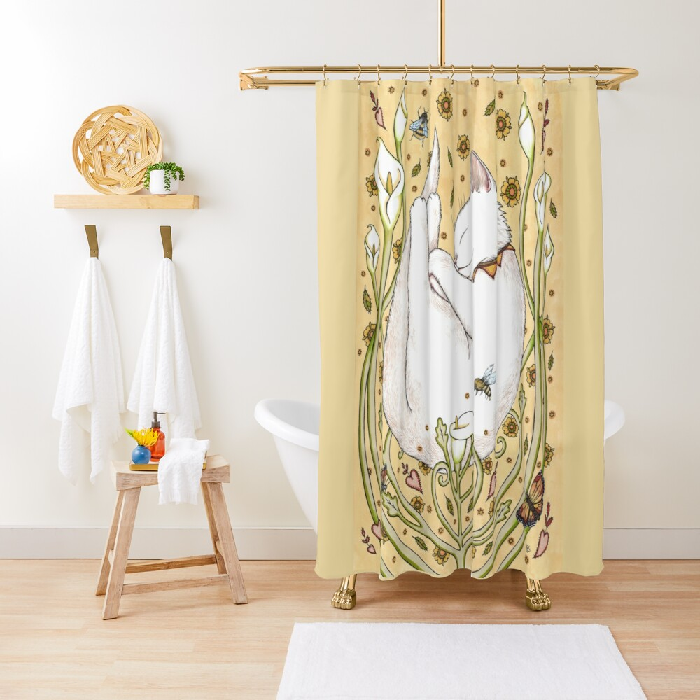 Butterflies and Bees Shower Curtain