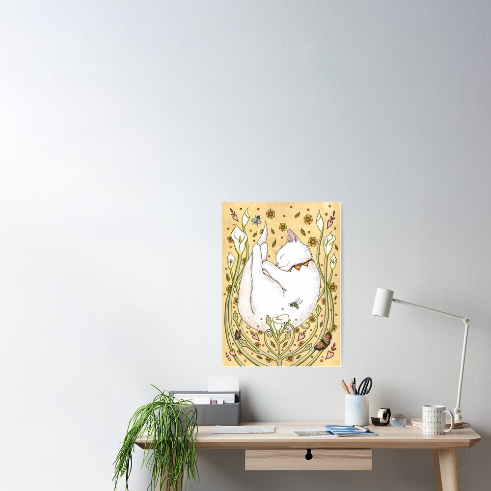 Butterflies and Bees Poster