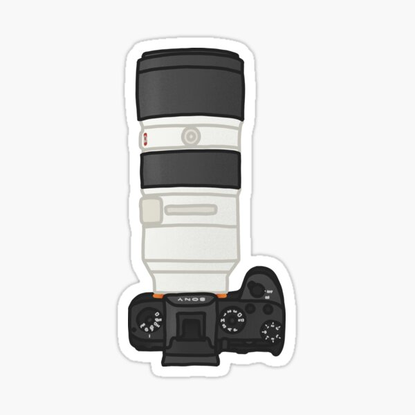 Sony Mirrorless Camera & 70-200mm f2.8 Hand Drawn Figure Sticker