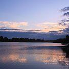 dusk at the creek by gail woodbury