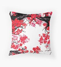 CHERRY BLOSSOMS Throw Pillow