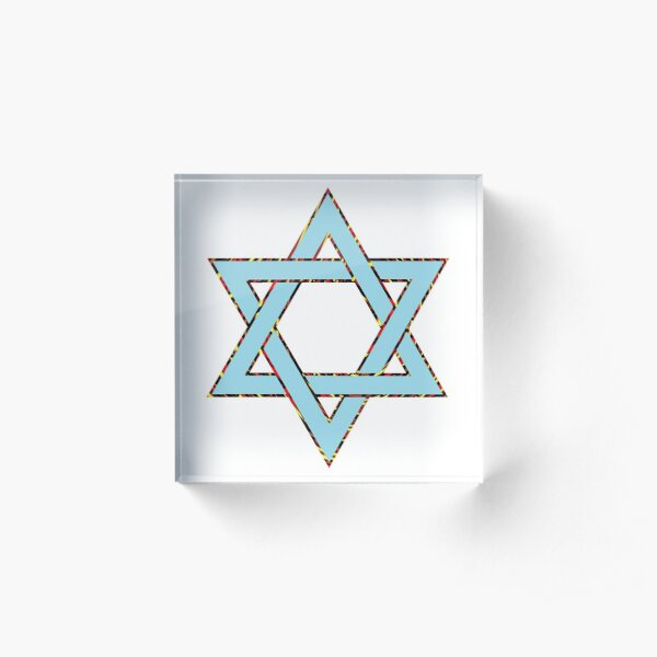 Jewish,  #Star of #David #Clipart #StarOfDavid Acrylic Block