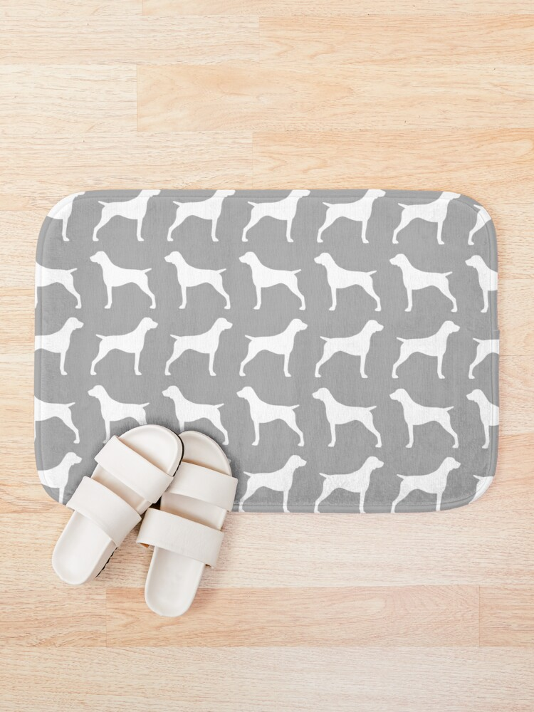 Alternate view of German Shorthaired Pointer Silhouette(s) Bath Mat