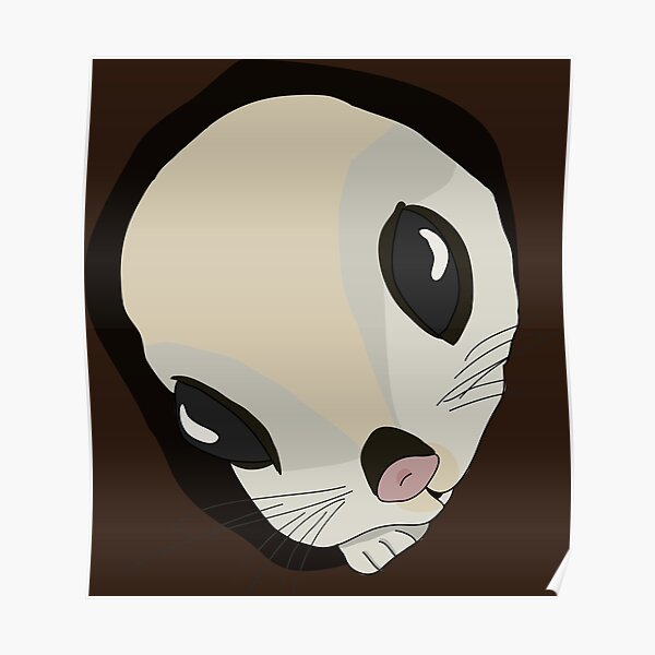 Japanese flying squirrel in a hole  Poster