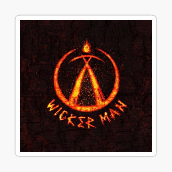 Wicker man Sticker