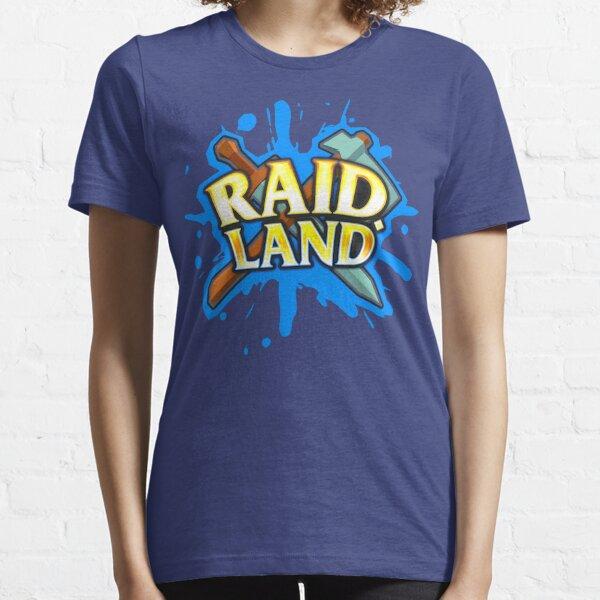 Raid.Land Logo Blue Essential T-Shirt