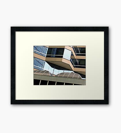 Shapes in city buildings - CBD Perth, Western Australia Framed Print