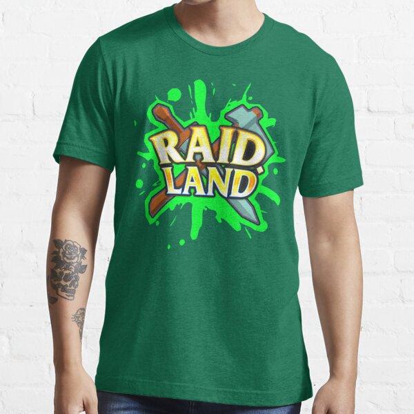 Raid.Land Logo Green Essential T-Shirt