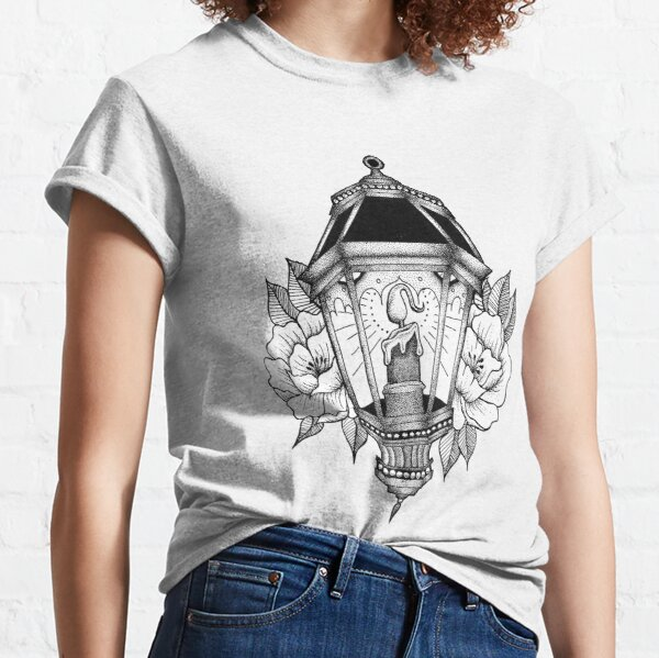 Dotwork Tattoo Lantern Classic T-Shirt
