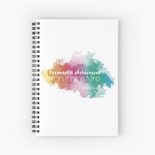 Accomplis Pleinement Ton Ministere - French  Spiral Notebook