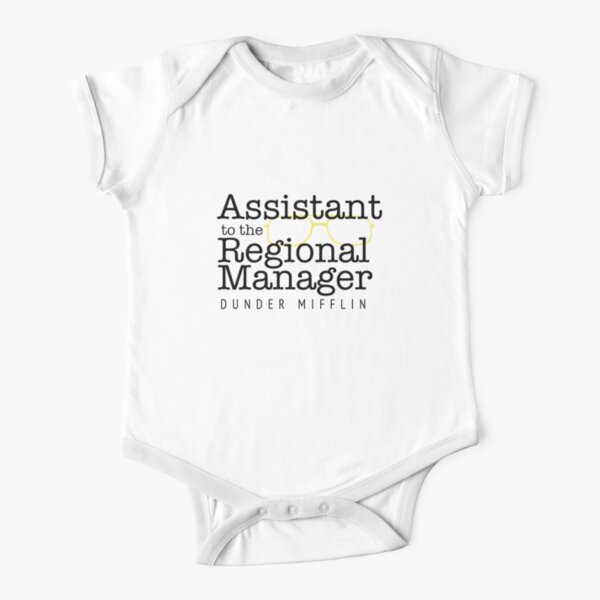 Assistant to the Regional Manager Short Sleeve Baby One-Piece