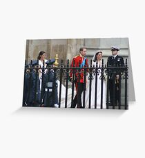 PRINCE WILLIAM AND CATHERINE MIDDLETON  Greeting Card