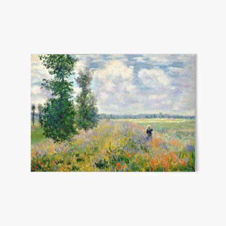 Poppy Fields near Argenteuil by Claude Monet Art Board Print