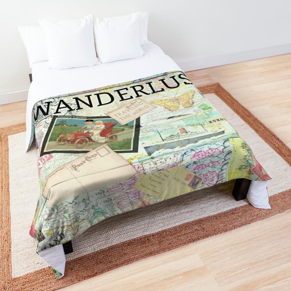 Wanderlust Travel Quote Comforter