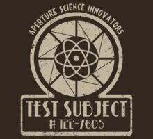 TShirtGifter Presents: Aperture Science Innovators Test Subject