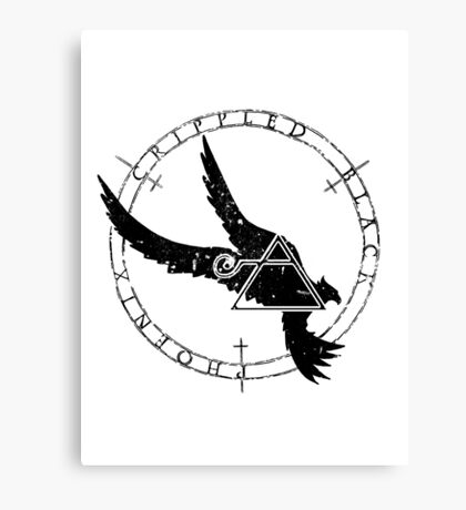 Crippled Black Phoenix 2015 A.D. (Black V.1) Canvas Print