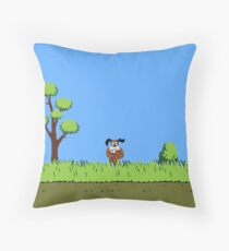 Duck Hunt Dog Throw Pillow