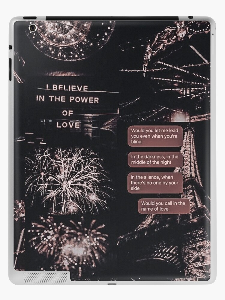 Late Night Text Rose Gold Aesthetic Collage Ipad Case Skin By Wildxinfinite Redbubble