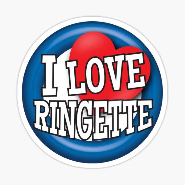 'I Love Ringette' (White) Sticker