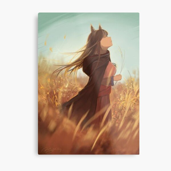 Spice and Wolf - Holo Metal Print