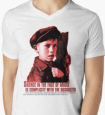 CHILD ABUSE (LETS STOP IT ONCE FOR ALL) Men's V-Neck T-Shirt