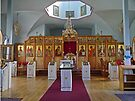 Interior, Holy Ressurection Church, Kodiak, Alaska, USA by Margaret  Hyde