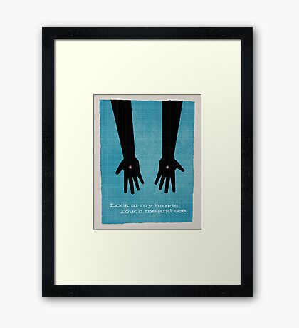 Word: Resurrection Framed Print