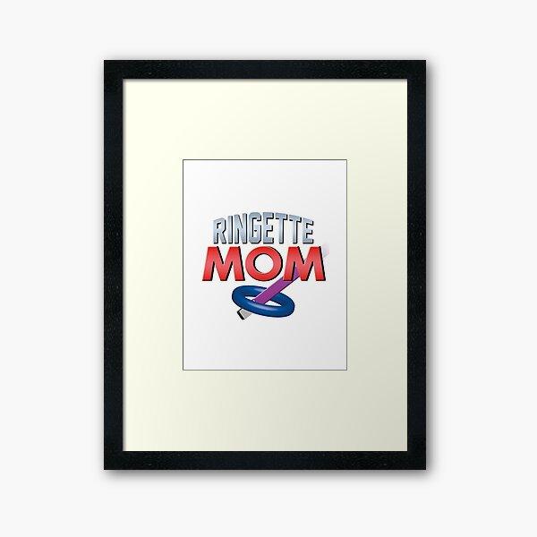 'Ringette Mom' (White) Framed Art Print