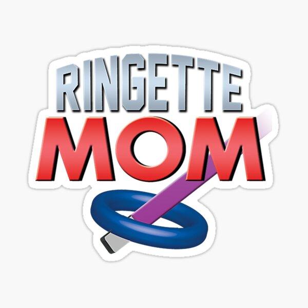 'Ringette Mom' (White) Sticker