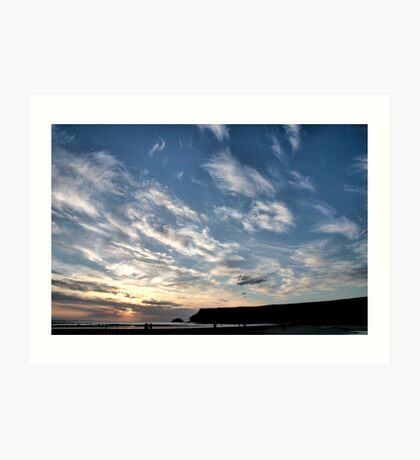 Cornish Clouds Art Print