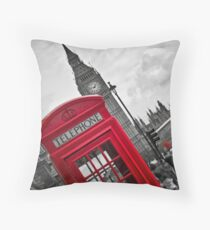 Telephone Booth in London Throw Pillow