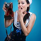 """""""Oups"""" Pin-up Girl by Laura Balc"""