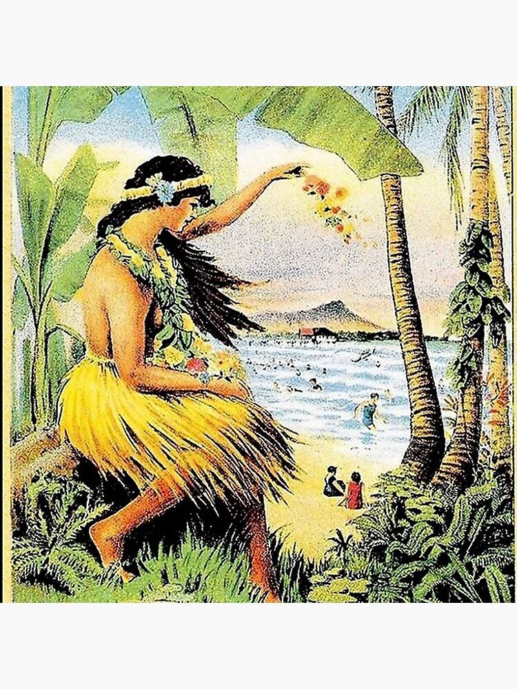 HAWAII  Vintage Honolulu Mid-Pacific Carnival Print     by vbgh