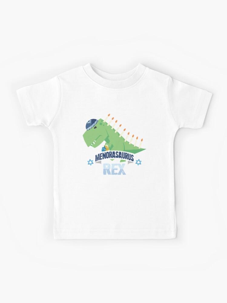 Hanukkah Ugly Sweater Menorasaurus Menorah Stegasaurus Toddler T Shirt