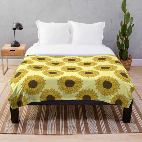 Yellow and Orange Sunflowers Throw Blanket