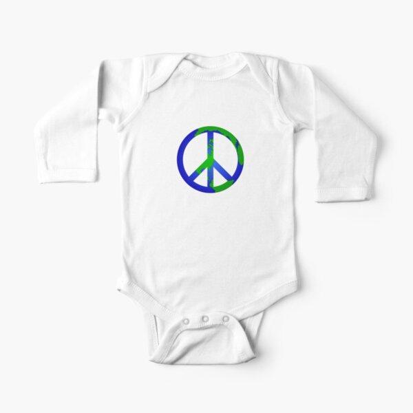 Peace on Earth Long Sleeve Baby One-Piece