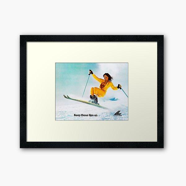 Ski Girl Framed Art Print