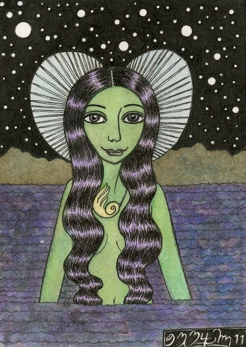 ACEO Number Ten by Bethy Williams