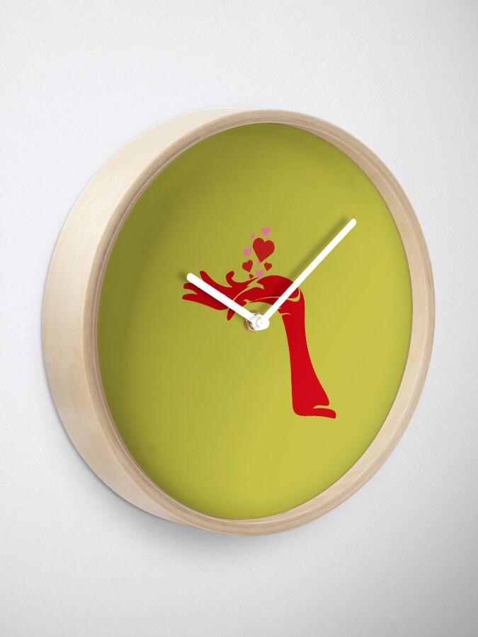Alternate view of Devils heart's handfull Clock