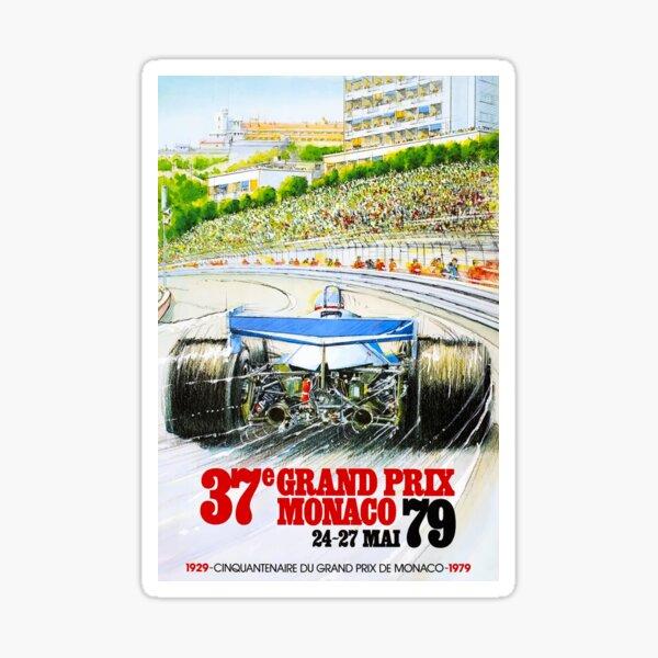 Affiche de course du Grand Prix de Monaco 1979 Sticker